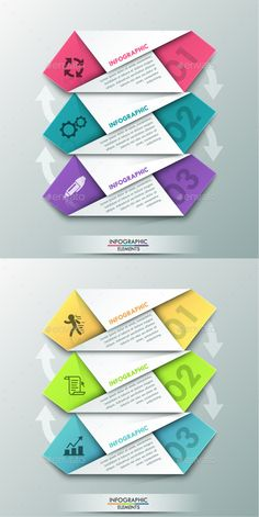 Modern Infographic Paper Template (2 Colors) — Photoshop PSD #process #solution • Available here → https://graphicriver.net/item/modern-infographic-paper-template-2-colors/10604890?ref=pxcr