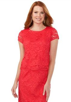 Cato Fashions Scalloped Lace Top #CatoFashions