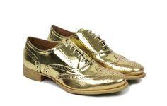 I NEED THESE.      Emilia Gold Womens Brogue | Women | Oliver Sweeney
