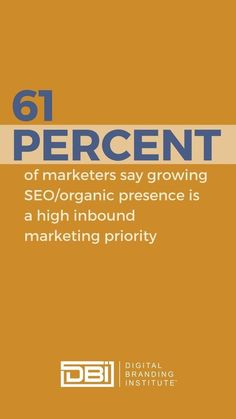 Did you know? 61% of marketers say growing #SEO or organic presence is a high inbound marketing priority. Inbound Marketing, Email Marketing, Content Marketing, Social Media Marketing, Business Goals, Business Tips, Search Optimization, Branding Strategies, Education And Training