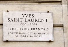 Yves Saint-Laurent - 55 rue de Babylone (Paris 75007)