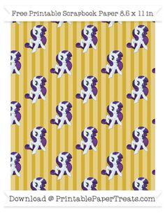 Metallic Gold Striped Large  Rarity Pattern Paper