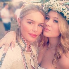 Another look at Kate Bosworth's braided Coachella hairstyle. Photo via Instagram.