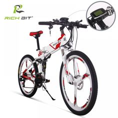 RichBit New Electric Bike Mountain Hybrid Electric Bicycle Cycling Watertight Frame Inside Li-on Battery Folding ebike Folding Mountain Bike, Electric Mountain Bike, Electric Bicycle, Electric Scooter, Bike Folding, Electric Cars, Scooter Custom, E Scooter, Ebike Shop