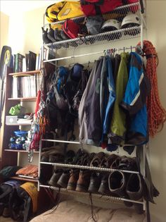 Gear Room Backng Hiking Camping Boots Closet Redo