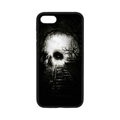 iPhone 7 Phone Case Forest death skull terror thriller photo Pattern Print Hard Shell Phone Protection Case -- Awesome products selected by Anna Churchill