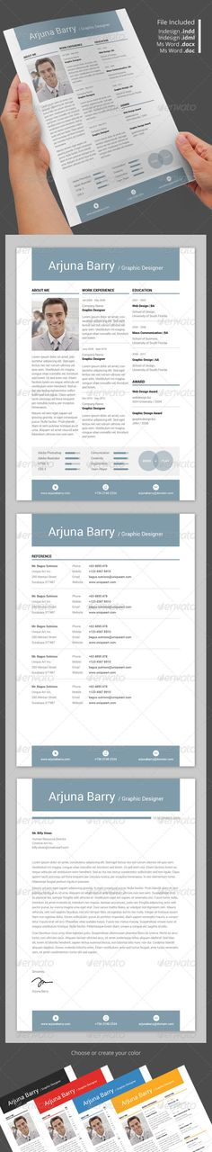 Infographic Resume Vol 3 Infographic resume, Infographic and - portfolio word template