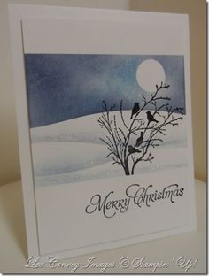 Stampingleeyours: Serene Silhouettes~BRRRRR and a Tutorial