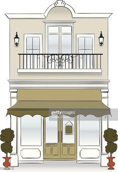 A bakery store front. Facade Design, Exterior Design, Boutique Patisserie, Fachada Colonial, Bakery Store, Cafe Exterior, Design Food, Paris Cafe, Shop Fronts