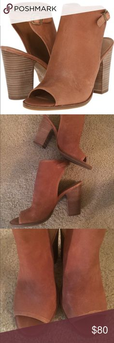 Lucky Brand Lisza size 8 Booties. Worn several times. Camel. Size 8. See normal wear Lucky Brand Shoes Ankle Boots & Booties