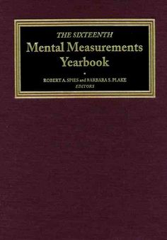 Precision Series The Sixteenth Mental Measurements Yearbook