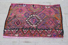 Etsy Pink 2x3 Kilim Rug, Turkish rug 2x3, 2x3 vintage rug, 2.3x3.4 Kilim Rug, 2x3 kilim, Vintage rug, kilim rug 2x3, rug 2x3