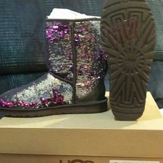 New in box uggs New sparkle purple uggs ugg Shoes Winter & Rain Boots