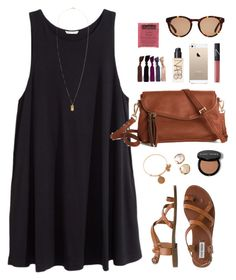 summer lbd by classically-preppy on Polyvore featuring polyvore, moda, style, H&M, Steve Madden, Alex and Ani, The Row and NARS Cosmetics