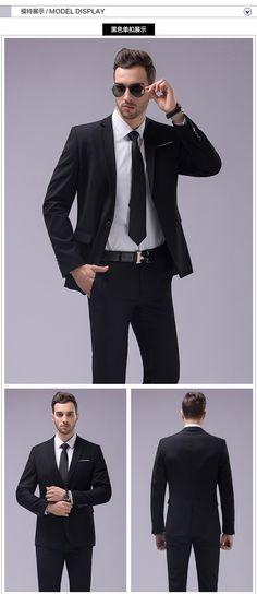 เองทำชุดสีน้ำเงินเข้มและสีดำ, ตัดทำชุด, ผู้ชายชุดสูทแต่งงานbespoke, แบบบางเจ้าบ่าวชุดทักซิโด้สำหรับผู้ชาย( เสื้อ+กางเกง) ใน จาก ชุด ที่ AliExpress.com