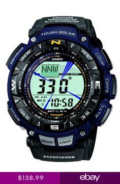 6f58d1e5b1c Casio Pathfinder Mens Tough Solar Triple Sensor Two-Tone 57.5mm Watch  PAG240B-2