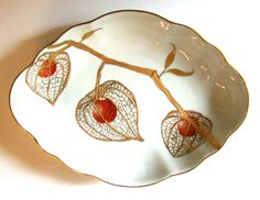 Physalis or Chinese Lanterns | ARTchat - Porcelain Art Plus .. how to...