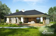 Oceania Modern Bungalow House, Bungalow House Plans, Dream House Plans, Small House Plans, My Dream Home, Spanish House, Story House, Facade House, House Colors