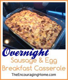 Brunch Recipe, Casserole Recipe, Breakfast Casserole, Refrigerate ...