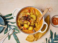 Japanilainen lihapata Garam Masala, Chana Masala, Ratatouille, Thai Red Curry, Ethnic Recipes, Food, Essen, Meals, Yemek