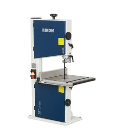 Get all of the features of a full size bandsaw in this bench top model. The large cast iron table, edge facing thrust bearings, a powerful 1/3 HP induction motor, and 4-5/8 in cutting capacity are all