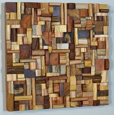 Olga Oreshyna is a Canadian artist, who gives a new life to recycled wood. Deeply passionate about woodworking, the eco-conscious artist creates unique wood art Wooden Wall Design, Rustic Wood Wall Decor, Reclaimed Wood Wall Art, Reclaimed Wood Projects, Wooden Wall Art, Recycled Wood, Wood Sculpture, Wall Sculptures, Scrap Wood Art