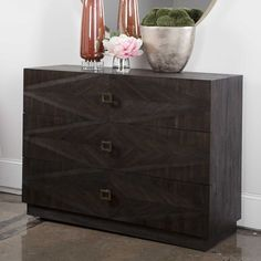 Maverick Drawer Chests Combine Premium Quality Materials With Unique High-style Design. Revelation by Uttermost offers wholesale accent furniture, mirrors, lamps, lighting fixtures and Oversized Furniture, Brown Furniture, Accent Furniture, Dresser As Nightstand, Drawer Pulls, Diamond Pattern, Chest Of Drawers, Luxury Furniture, Wall Decor
