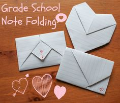 GRADE SCHOOL NOTE FOLDING: A LITTLE TUTORIAL ~ Gramkin Paper Studio