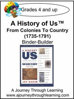 A History of Us Book 3- From Colonies to Country  Binder-Builder Lapbook. Enjoy this unique fusion of lapbooking/notebooking with our Binder-Builders! Along with the Binder-Builder, you will need the corresponding A History of US text by Joy Hakim. This is a fun and interactive way to enjoy US History. #homeschooling #lapbooking #notebooking