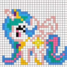 Princess Celestia option 2 Pattern - Perler Mania