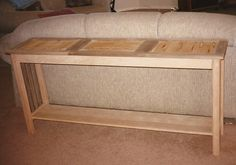 Sofa Table - I would like in a dark stain.  :)