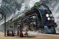"""steampunktendencies: """"Art by Ben Wootten """""""