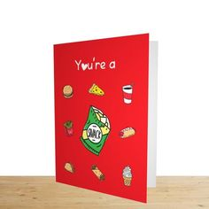 £4.25... You're a Snack... Valentines Card