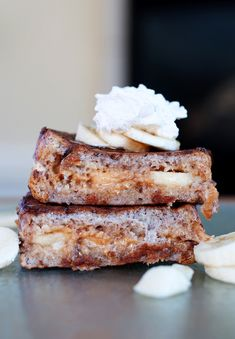 Peanut Butter & Banana Stuffed French Toast - To Die For!