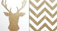 DIY Glitter Canvas Wall Art