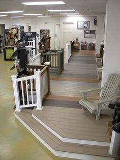 Shoreline Lumber Ft. Myers Showroom Pvc Decking, Showroom, Stairs, Outdoor Decor, House, Ideas, Home Decor, Stairway, Decoration Home