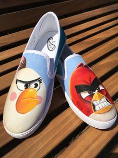 Shoe Art  Angry Birds