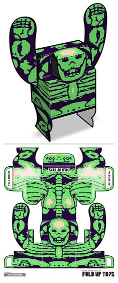 Downloadable paper art toy design by Fold Up Toys - Rorschach #009