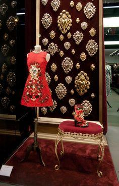 The Window Shopper Window Display Design, Store Window Displays, Wall Shelves Design, Boutique Decor, Boutique Interior, Boutique Displays, Dolce Gabbana Store, Baroque, Visual Merchandising Displays