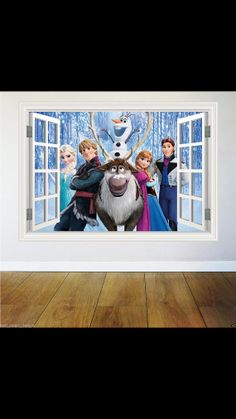 Frozen Full Colour Wall Art Sticker Transfer Print Bedroom Girls Boys Frozen Stickers
