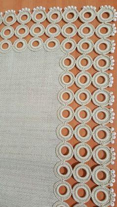 Star stitch and lamp shade 💕 . Crochet Motif Patterns, Crochet Lace Edging, Crochet Leaves, Crochet Borders, Filet Crochet, Irish Crochet, Crochet Doilies, Crochet Flowers, Knitting Patterns