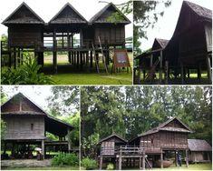 เรือนชั่วคราว Thai House, Vernacular Architecture, Wooden House, Contemporary, Modern, My House, Bamboo, Farmhouse, Traditional