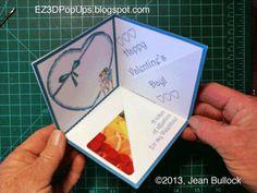 EZ3D Pop Ups: Three-sided Corner Gift Card Valentine  http://EZ3DPopUps.blogspot.com