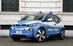 Descargar fondos de pantalla BMW i3, el 2017, la policía i3, coche eléctrico, la policía de Italia, coches de policía, BMW