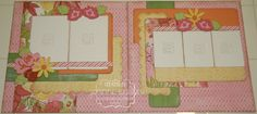 layout by Joanne Walton using CTMH Brushed paper.... (pinned straight from her pin board... NO BLOG)