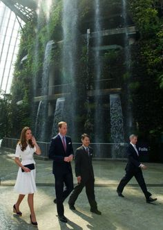 9/12/2012: Gardens by the Bay, with Prince William (Singapore)