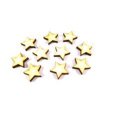 50 kleine Holz-Sterne zum Basteln oder Dekorieren // Diese kleinen, niedlichen Sterne eignen sich fantastisch als Streudeko, zum Verzieren von tollen Bastelarbeiten, zum Bekleben von kleinen Geschenken u.v.m.