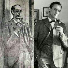 Life imitating art. Sidney Paget's illustration of SH in Naval Treaty (L) vs Granda's SH by Jeremy Brett.I love it when tv series pay homage to (iconic) scenes in the book well.