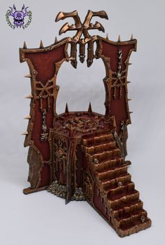 Skull Altar (Blades of Khorne) #ChaoticColors #commissionpainting #paintingcommission #painting #miniatures #paintingminiatures #wargaming #Miniaturepainting #Tabletopgames #Wargaming #Scalemodel #Miniatures #art #creative #hobby #dungeonsanddragons #dnd #frostgrave #rpg #roleplay #paintingwarhammer #warhammer #wh #gamesworkshop #gw #ageofsigmar #aos #sigmar #whfb #fantasy #warhammerfantasy #Kingsofwar #kow #kingsofwarvanguard #Chaos #Khorne #Bladesofkhorne #Khornedaemon #BleedingIcon Warhammer Fantasy, Warhammer 40k, Age Of Sigmar, Tabletop Games, Dungeons And Dragons, Blade, Miniatures, Skull, Creative