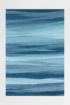 Meridian Blue Rug | Machine Washable Area Rug | Ruggable Washable Area Rugs, Machine Washable Rugs, Beach Canvas Wall Art, Canvas Art, Abstract Waves, Natural Rug, Blue Aesthetic, Rugs In Living Room, Room Rugs